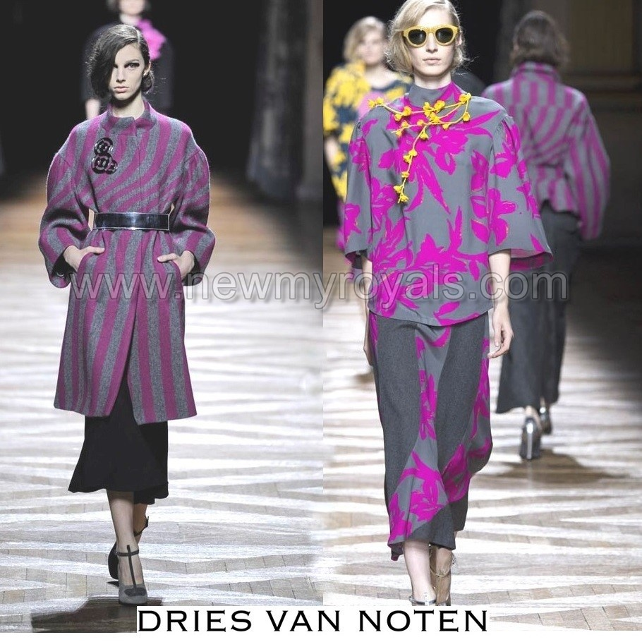 The royal news king philippe and queen mathilde visits for Dries van noten wedding dress