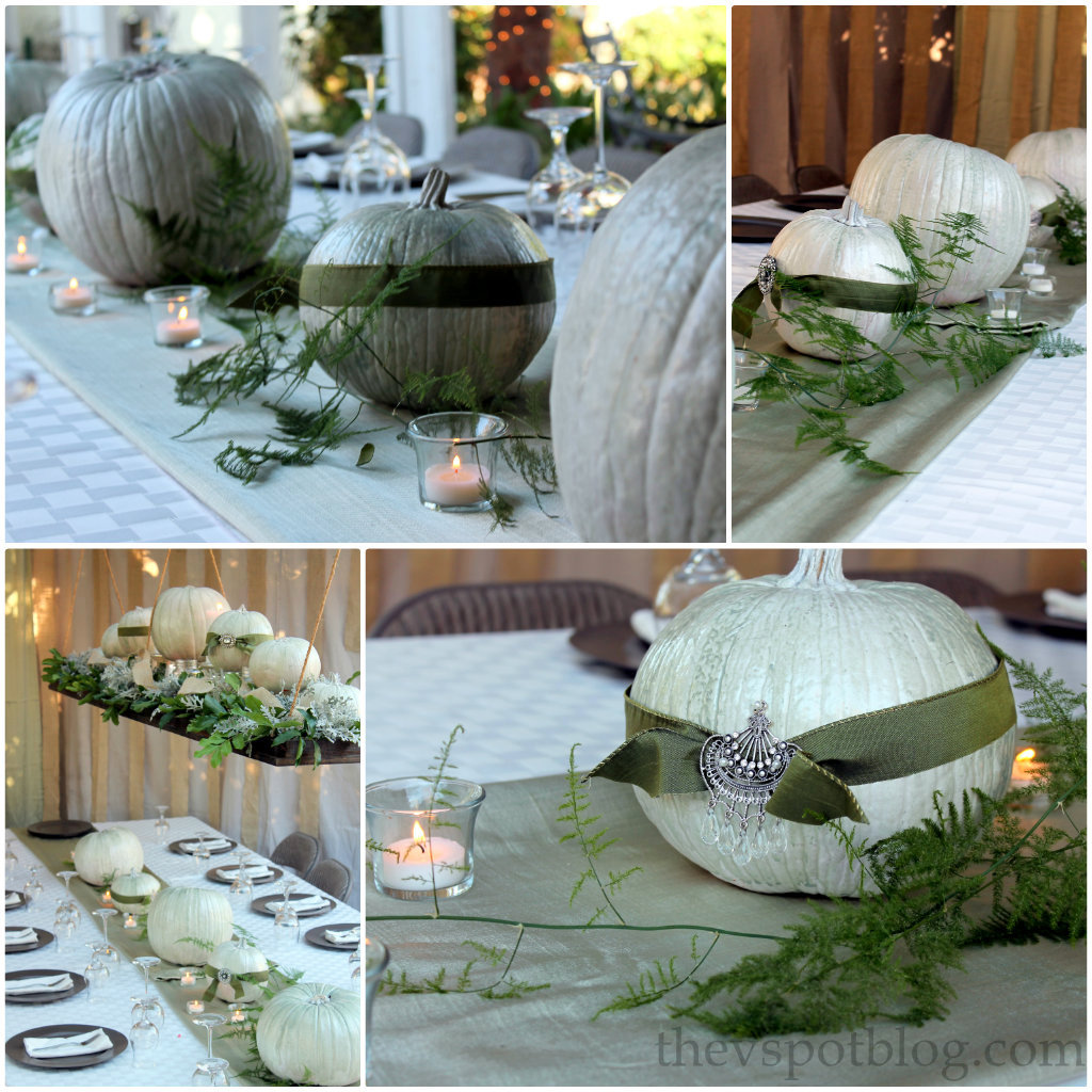 A thanksgiving tablescape and centerpiece a cheap easy for Inexpensive thanksgiving centerpieces