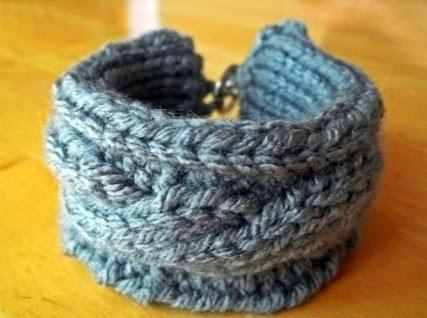 http://fanofstuff.com/recycled-plastic-bottle-knit-bracelet/