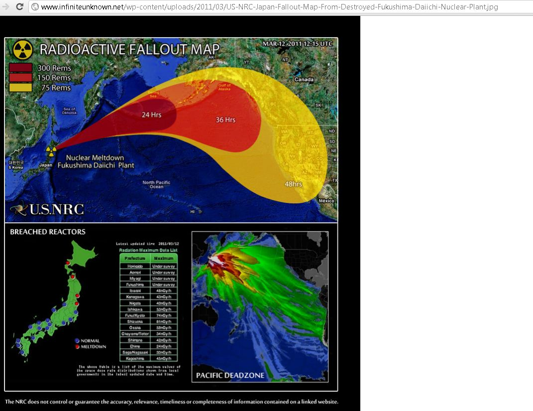 Pacific Ocean Catastrophe Confirmed Fukushima Mega Nuclear - Fukushima radiation 2016 us map