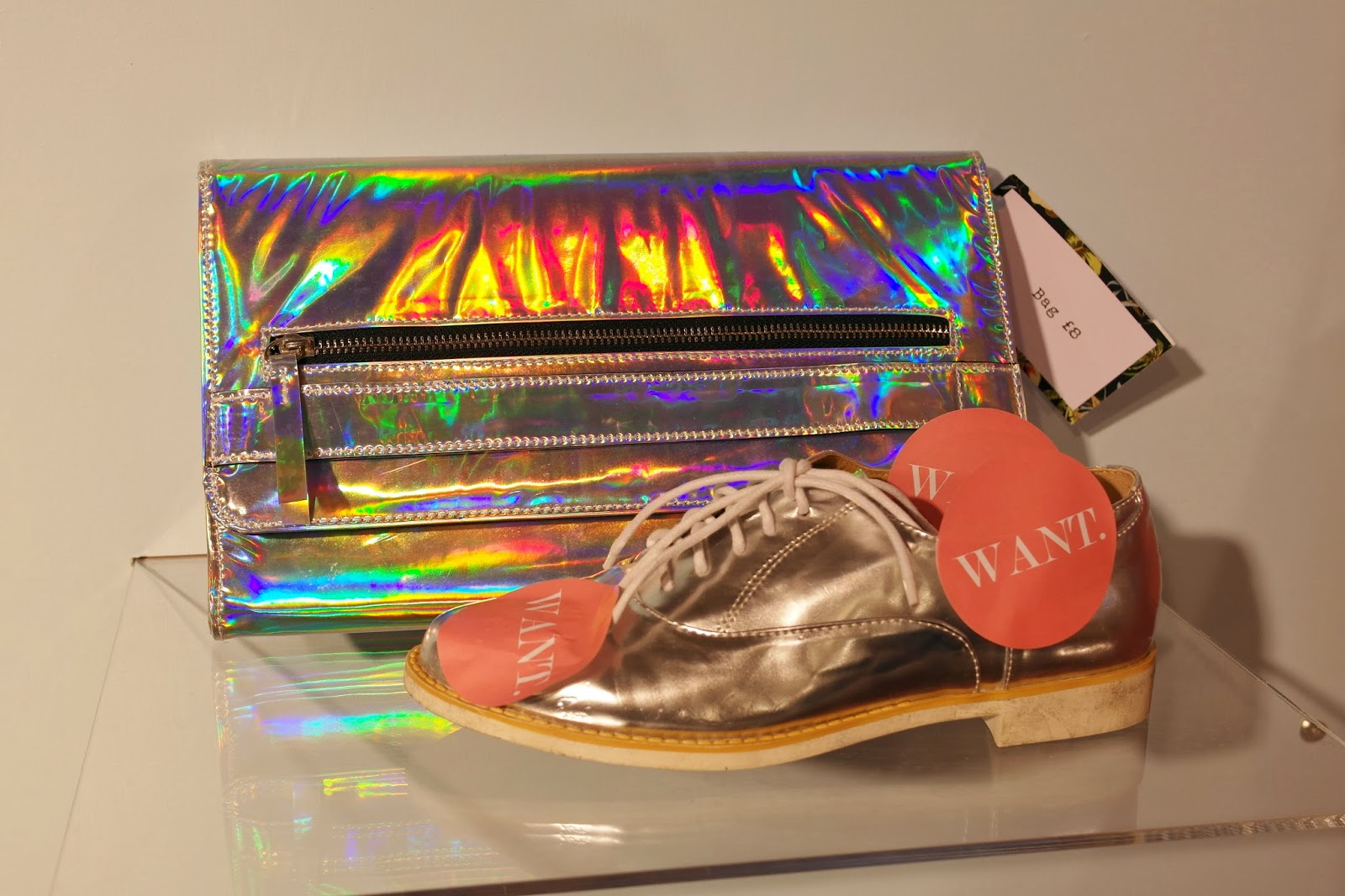 hologram clutch @ Primark spring14 pressday London PrimarkSS14