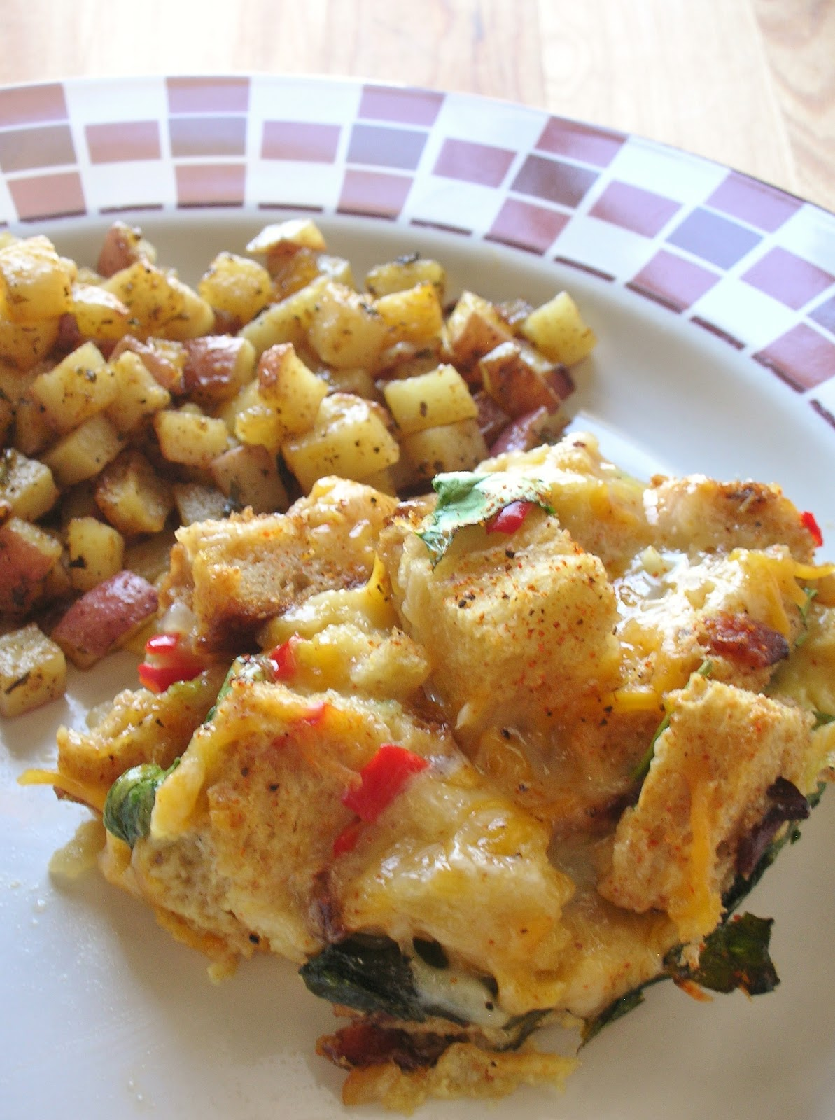 Basil: Savory Breakfast Bread Pudding