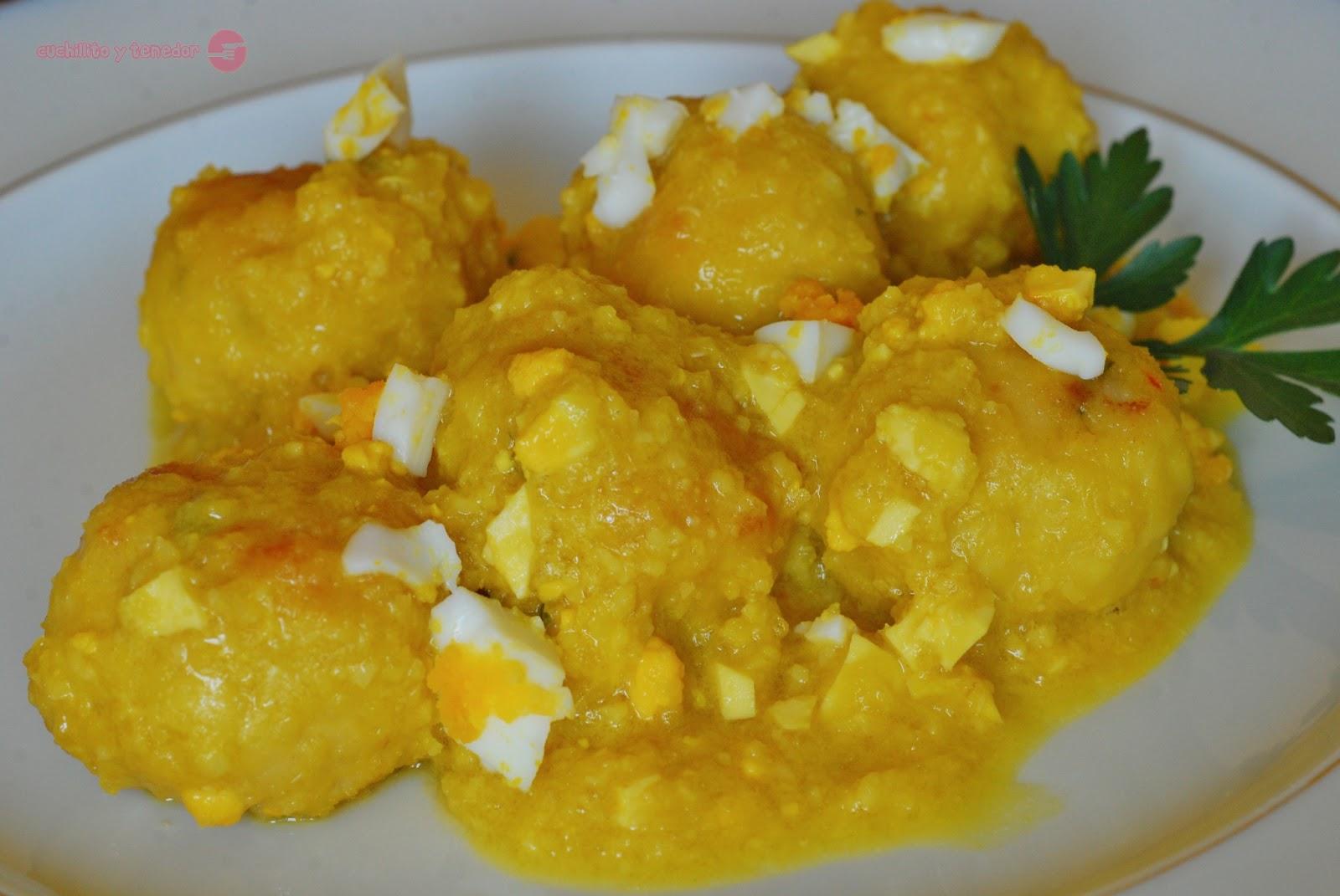 Alb ndigas de pollo de corral en pepitoria cuchillito y - Acompanamiento para albondigas ...