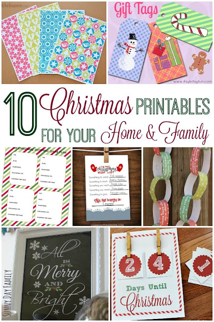 10 FREE Christmas Printables for your home & family! Get organized for the holidays with free printable Christmas lists, calendars, gift wrap and more!