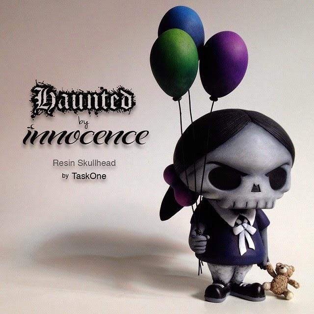 """Haunted by Innocence"" Custom Resin Huck Gee Skullhead by Task One"
