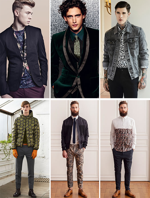 florals, men fashion, autumn, winter
