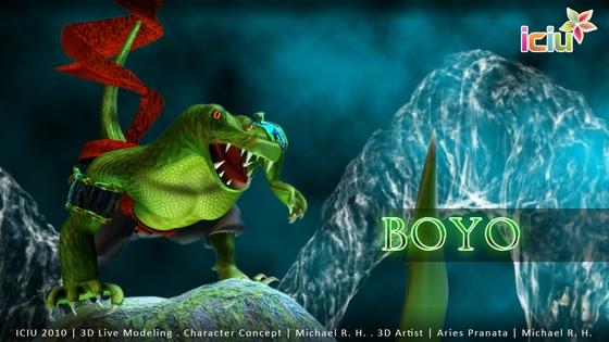 3D Modeling Suro dan Boyo