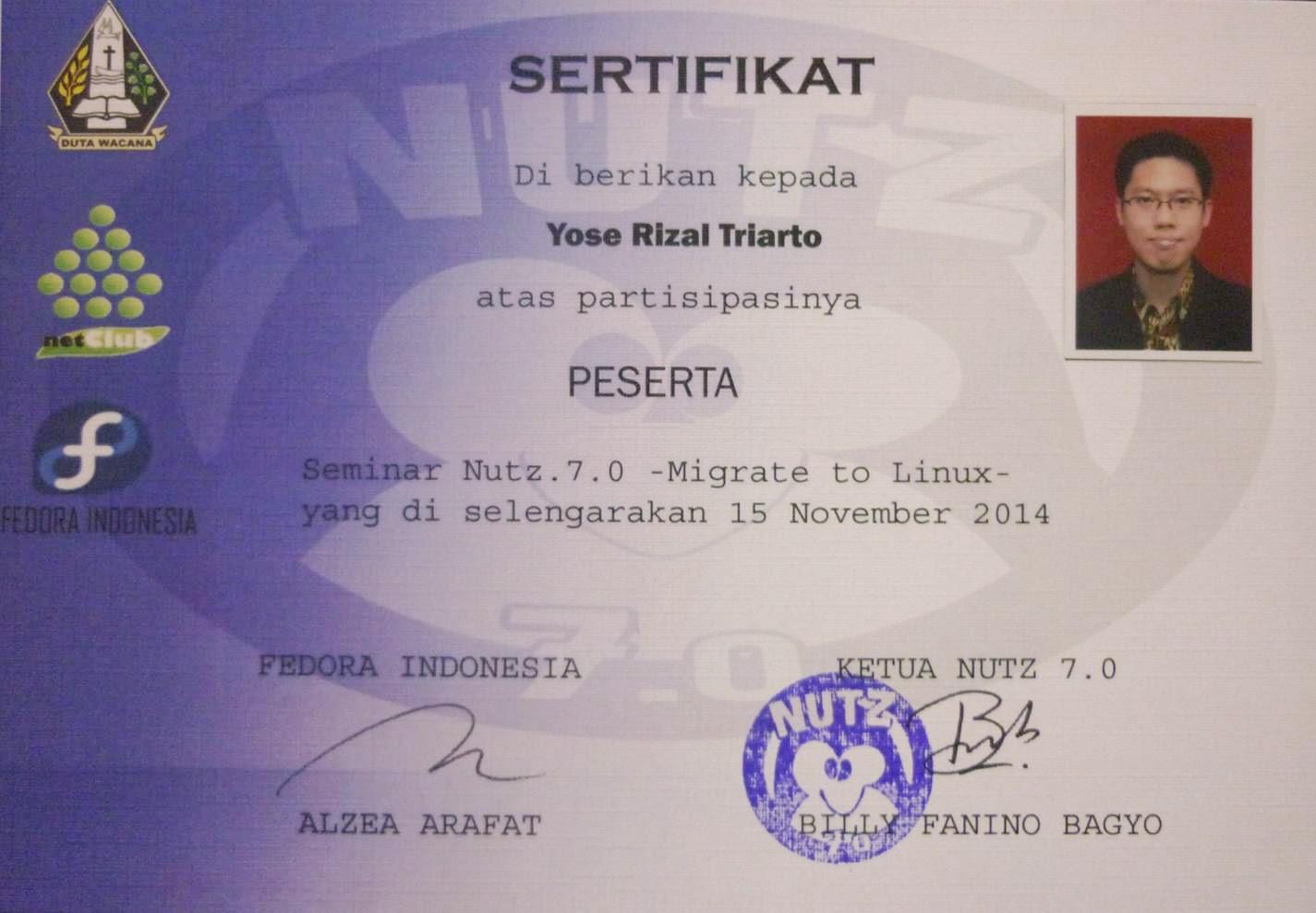 Seminar Nutz 7.0 Migrate to Linux UKDW Fedora Indonesia