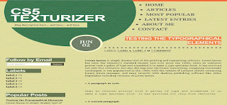 Cs5 texturizer blogger template