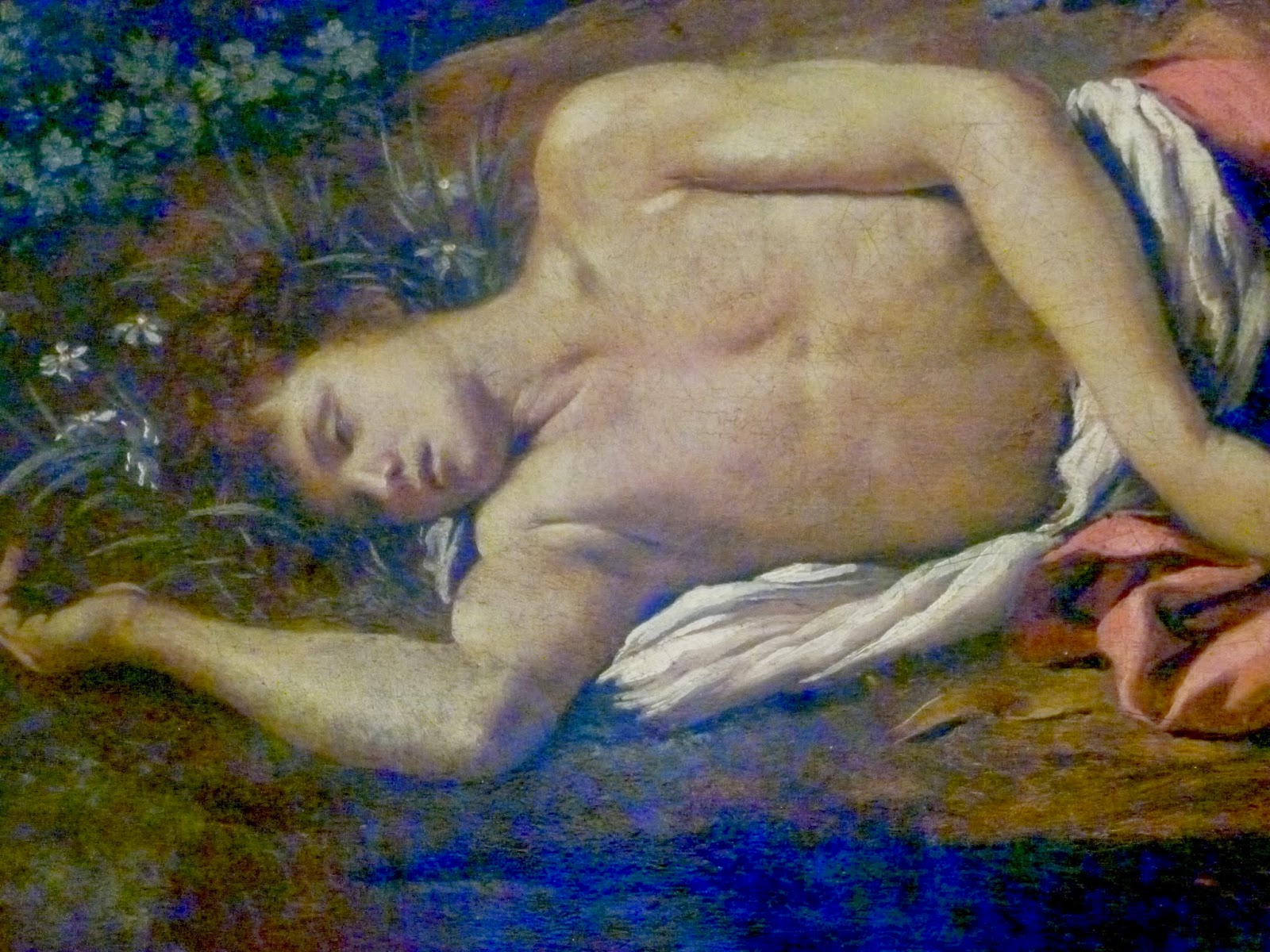 counterlight s peculiars the louvre a detail of the dying narcissus from poussin s echo and narcissus an early work