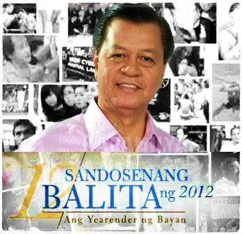 """Sandosenang Balita ng 2012: Yearender ng Bayan"" with 'Kabayan' Noli De Castro airs Sunday night (Dec 30) on ABS-CBN Sunday's Best."