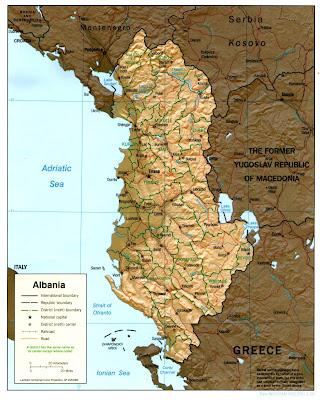 Mappa di Albanesi Regionale Geografia