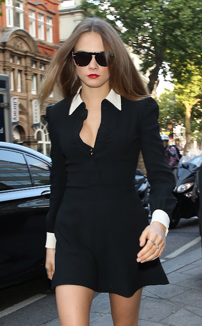 Fashion Model, Actress, Singer @ Cara Delevingne - Out and about in London
