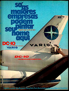 propaganda Varig - 1974, anos 70.  1974. década de 70. os anos 70; propaganda na década de 70; Brazil in the 70s, história anos 70; Oswaldo Hernandez;