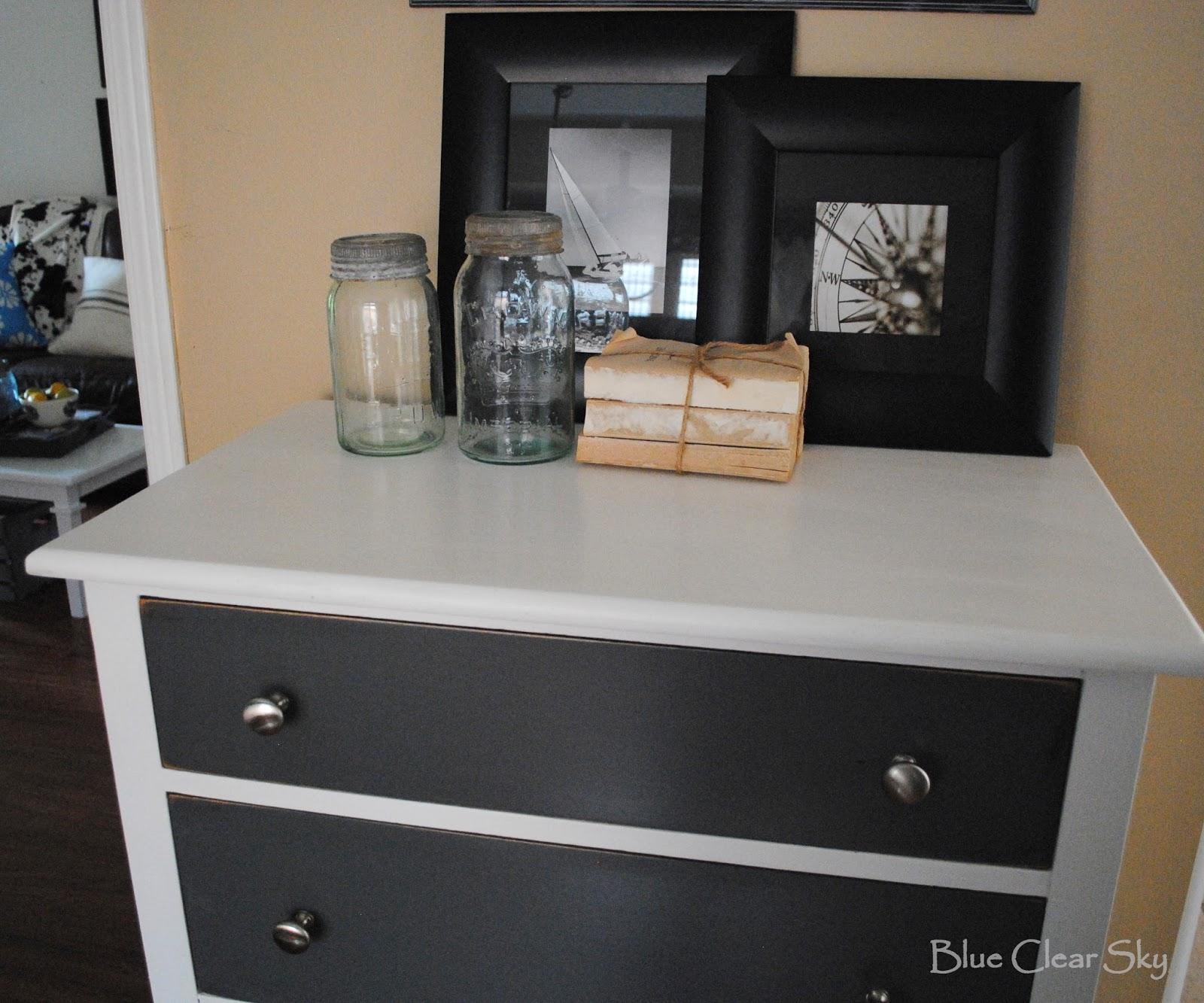 rustic antique grey dresser