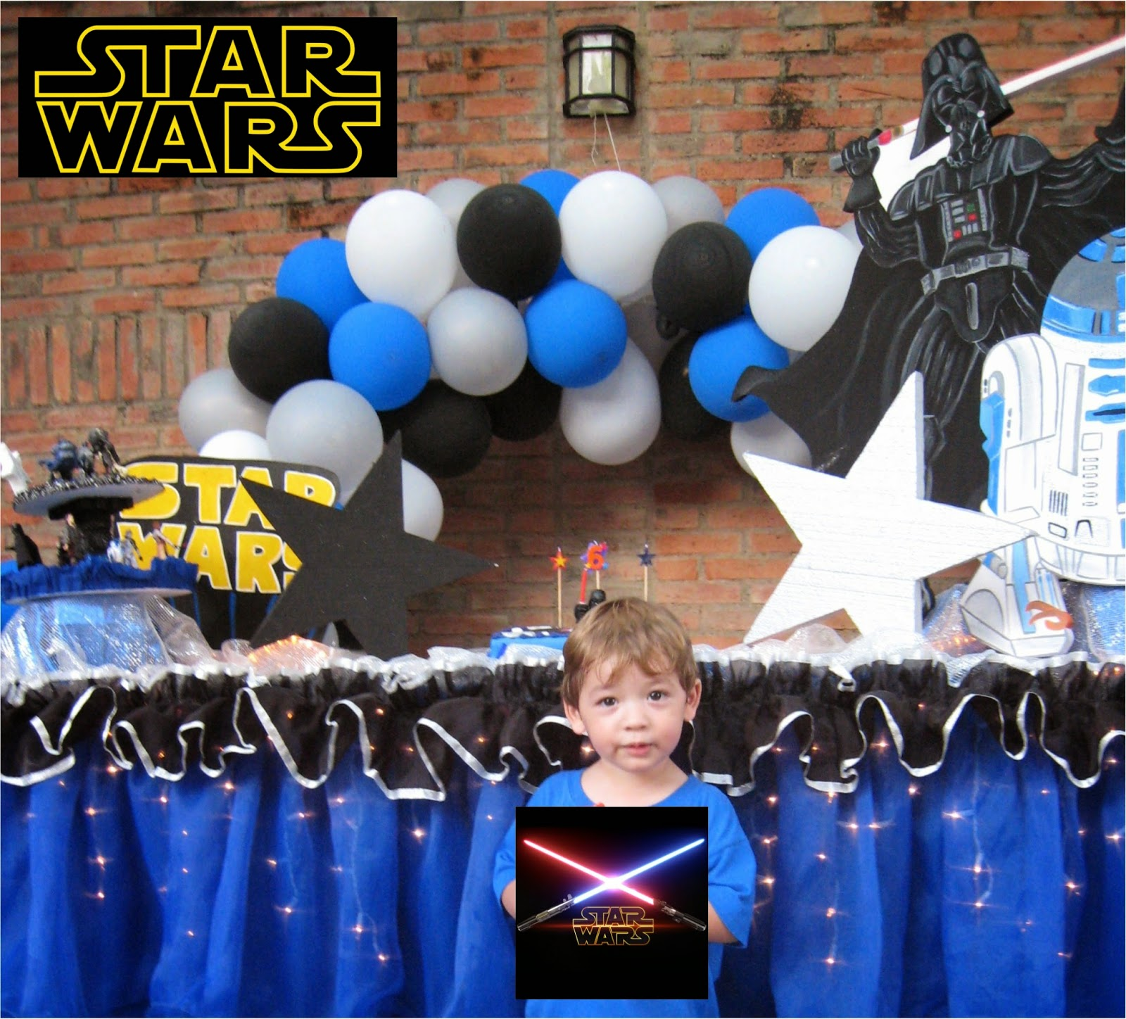 101 fiestas fiestas de ni o for Decoracion de cuarto star wars