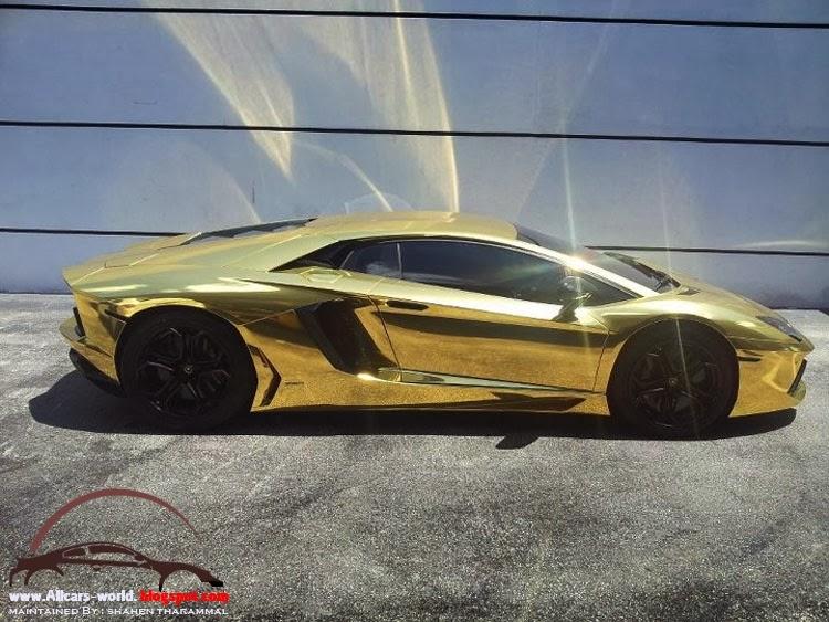 Automotive News Lamborghini Aventador Wrapped In Gold Chrome