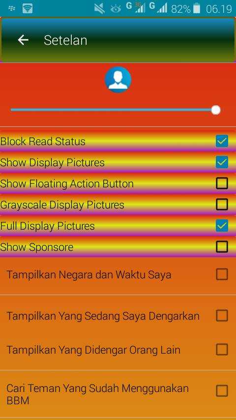 BBM MOD Middle Color Apk