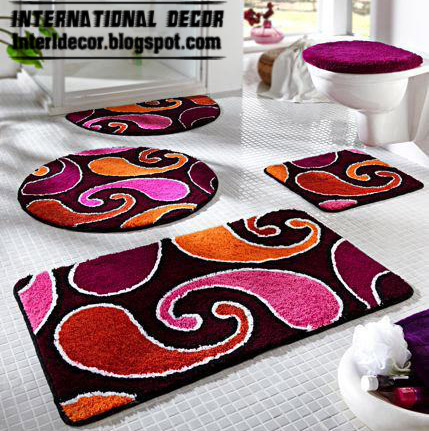 Colored Floor Carpet, Bathroom Carpet, Baths Rugs