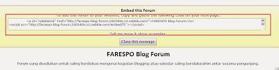 Cara Mudah Membuat Forum di Blog