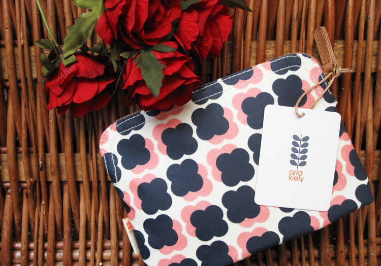 Orla Kiely Floating Flower Print Cosmetic Bag
