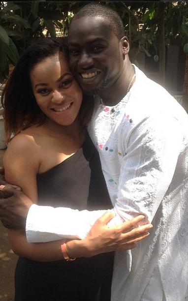 Pics: Damilola Adegbite & Chris Attoh christen new-born son, Brian