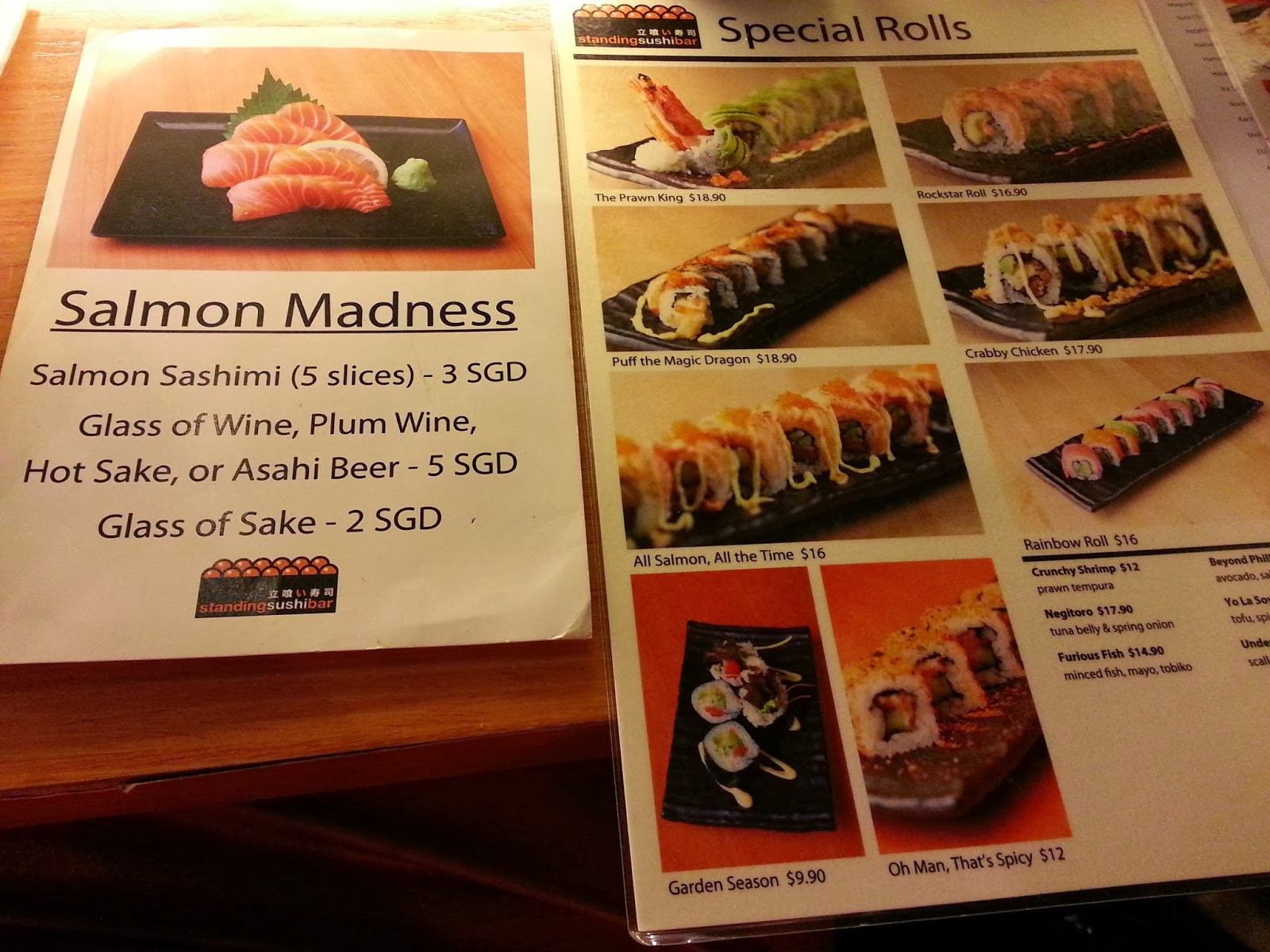 To See To Feel To Eat: Standing Sushi Bar, Queens Street
