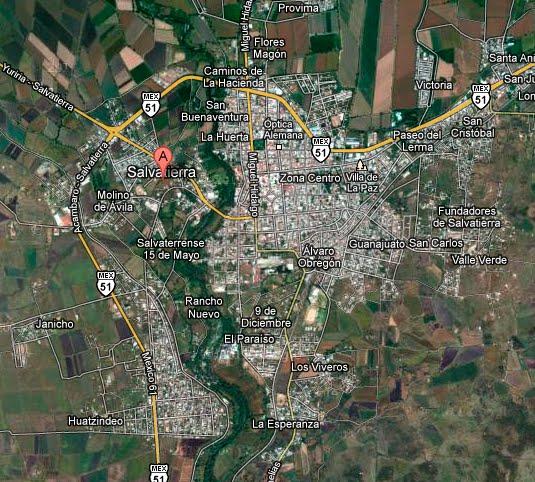 Ciudad de Salvatierra en Google Maps