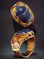 image Tutankhamen's treasure scarab