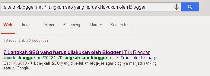 7 Langkah SEO blogger