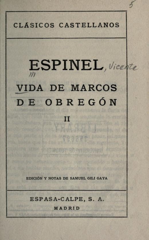 Vida de Marcos de Obregón