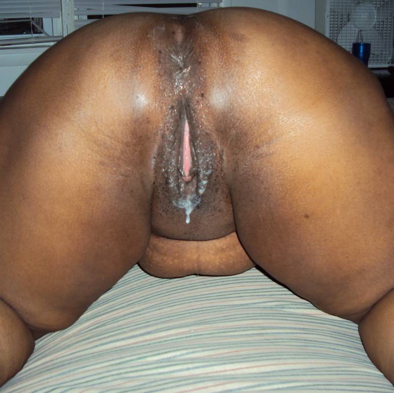 Black pussies filled with cum