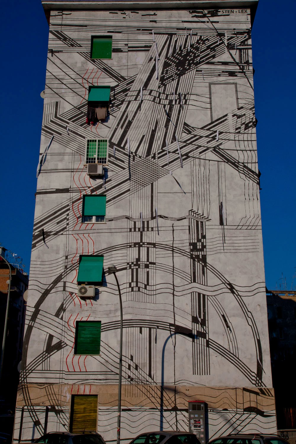 Sten lex first crowd funded mural rome italy for Audience wall mural