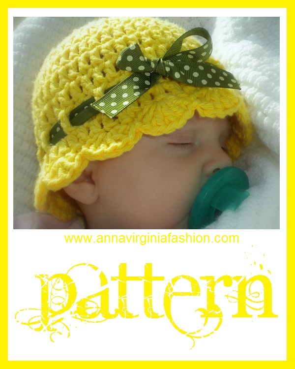 Annavirginia Fashion Baby Flapper Girl Hat Pattern