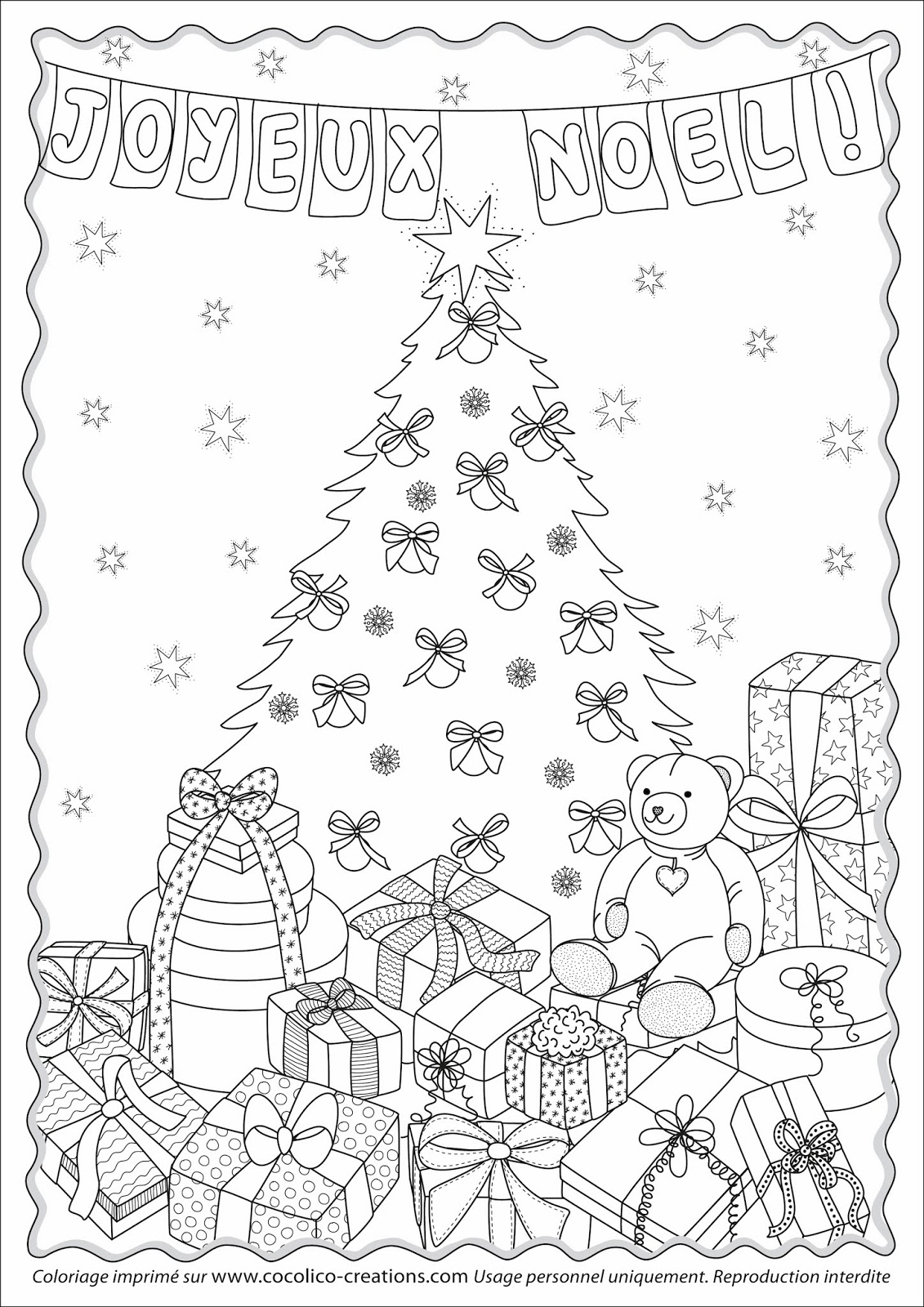 Cocolico creations coloriages - Noel coloriage ...