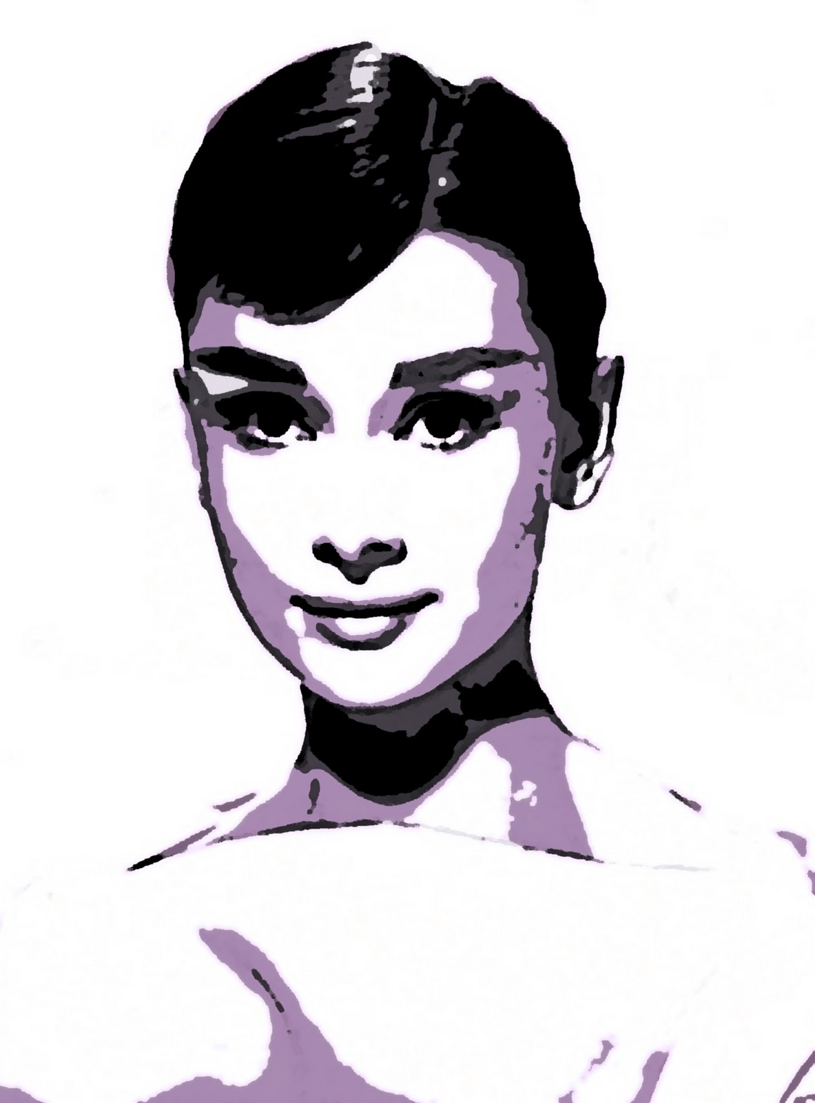 audrey hepburn portrait handgemalt auf leinwand fertig zu h ngen. Black Bedroom Furniture Sets. Home Design Ideas