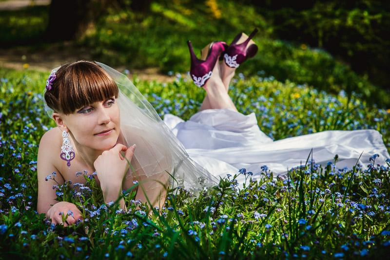 Ślubne pantofle