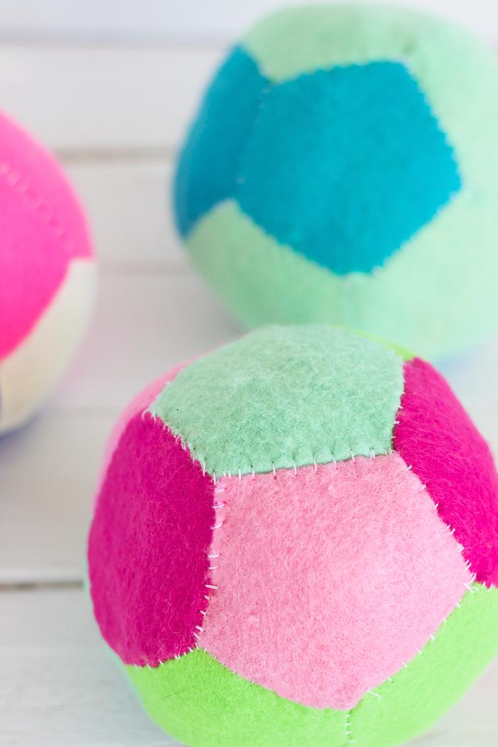 patchwork felt balls
