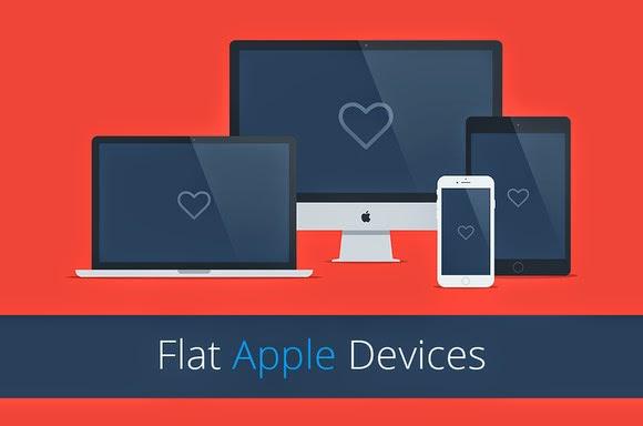 flat responsive apple web mockups download | freebies psd, Powerpoint templates
