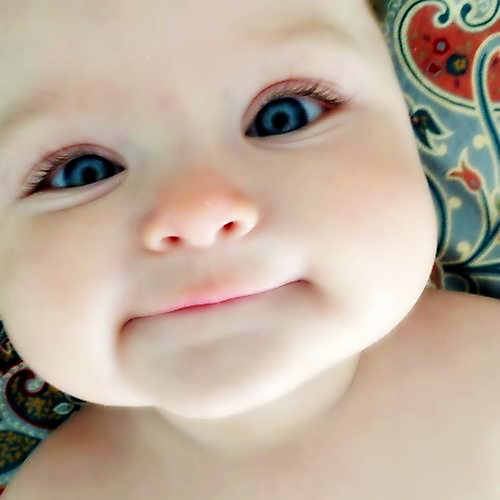 Adorable baby with cute eyes