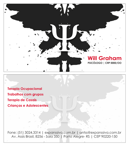 Cartao Psicologo 01 Frente e Verso - Cartões de Visita para Psicólogos