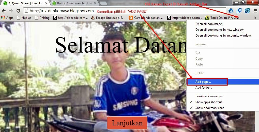 Cara Membuat Bookmark Toolbar di Google Chrome - Cara Melihat ID Akun Facebook