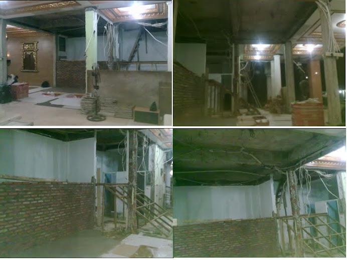 Renovasi ruangan dan tangga ke lantai 2 Masjid