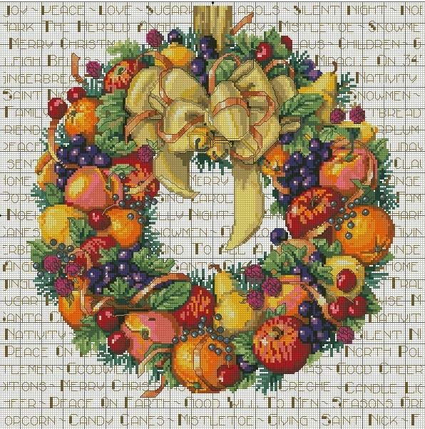 фруктовый венок