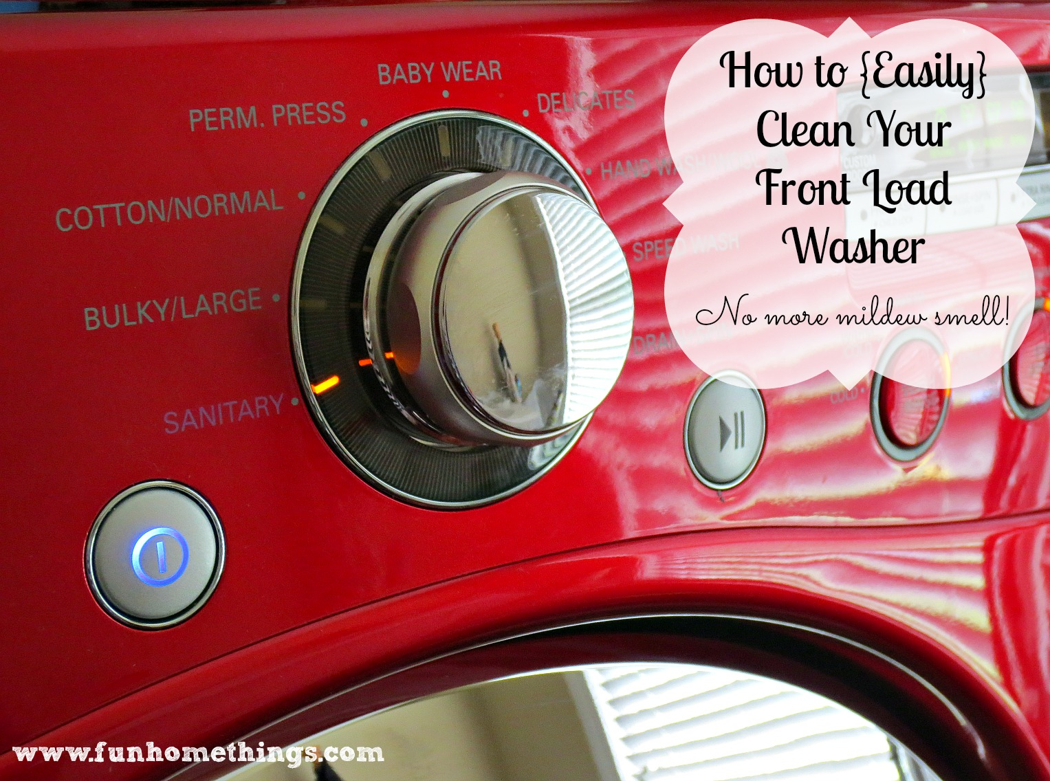 how to clean front load washer with bleach