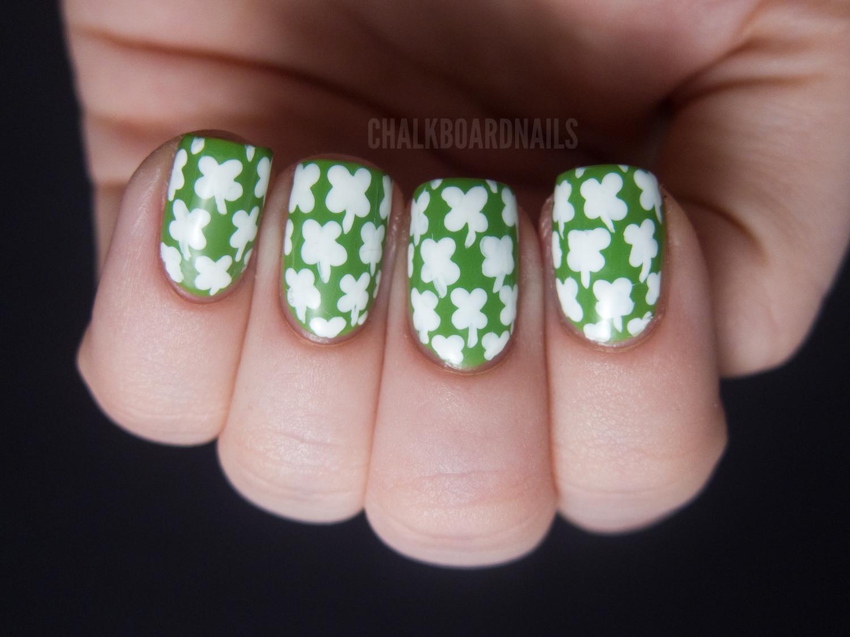 So, so lucky! | Chalkboard Nails | Nail Art Blog
