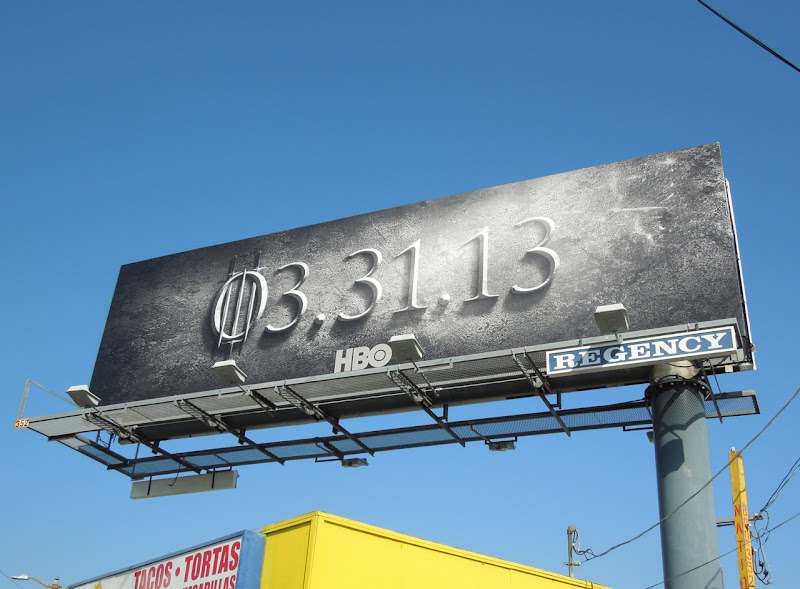 Game of Thrones 3 teaser billboard
