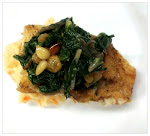 Alaskan Whiting with Braised Greens and Pine nuts