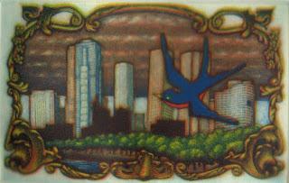 Greg Harrison multiple plate colour mezzotint print