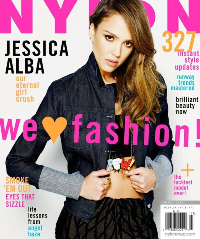 Jessica Alba portada de la revista Nylon marzo 2014